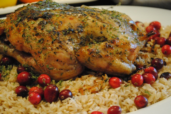 Wonderful Cape Town Eid Al-Fitr Food - Roasted-Chicken-over-Basmati-and-Cranberries-600  Pictures_331965 .jpg